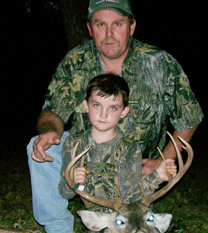 Spencer with his deer
