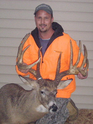 Johnny King with the buck he killed in 2006.