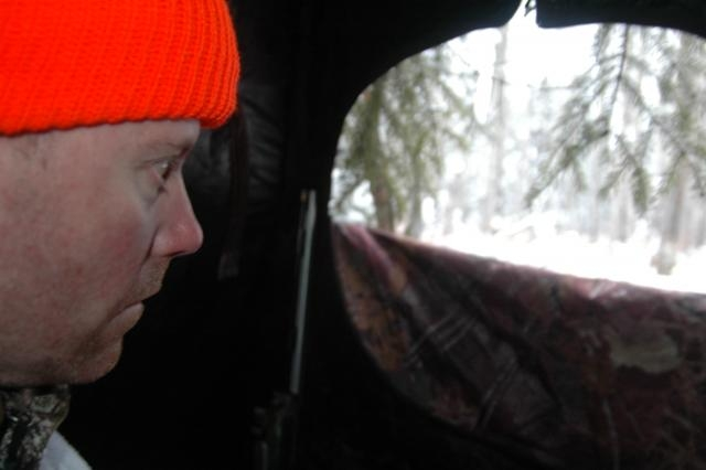 Deer & Deer Hunting Editor Dan Schmidt begins his vigil in the Saskatchewan wilderness.