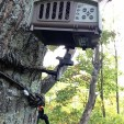 The Ozonics generator mounts above you when you are in your tree stand. (photo by Daniel Schmidt)