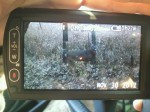 Video still of the lighted nock hitting Tanner's buck...