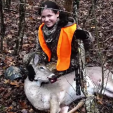 Morgan with her first deer!