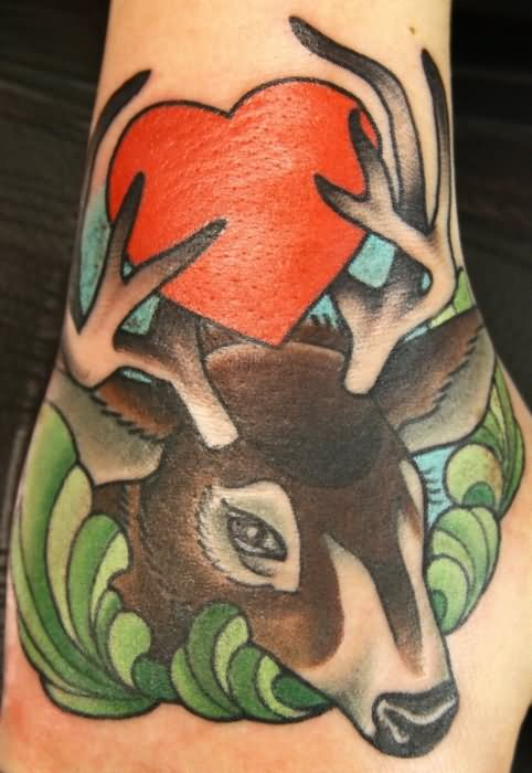 awesome whitetail deer tattoos. Black Bedroom Furniture Sets. Home Design Ideas