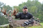 A.J. Downs with his monster Texas non-typical buck. (Photo: www.BasecampTexas.com)