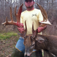 Alex LeBlanc of Louisiana with his possible state record 204-inch buck.