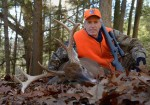 "Charlie Alsheimer killed this great buck on Nov. 17 as it ""dog-trotted"" two does around a food plot."