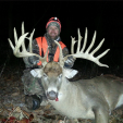 Jon Bargren with his massive buck that was bigger than he expected.