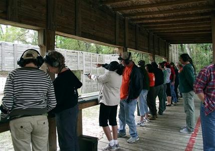 Shooting instruction is just one of many activities at BOW workshops.