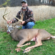 John Kassera with his stunning Wisconsin bow record that grossed more than 201 inches.