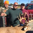 The Gilbert crew with Lenny's Delaware giant, shot on Nov. 12 while the trio was hunting private land in the south-central portion of the state.