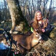 BUCKSHOTS Skye Goode with buck