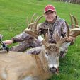 Tyler Knott with Junkyard, the largest buck ever taken in Iowa by a bowhunter less than 15 years old.  (Photo: Doug Knott)