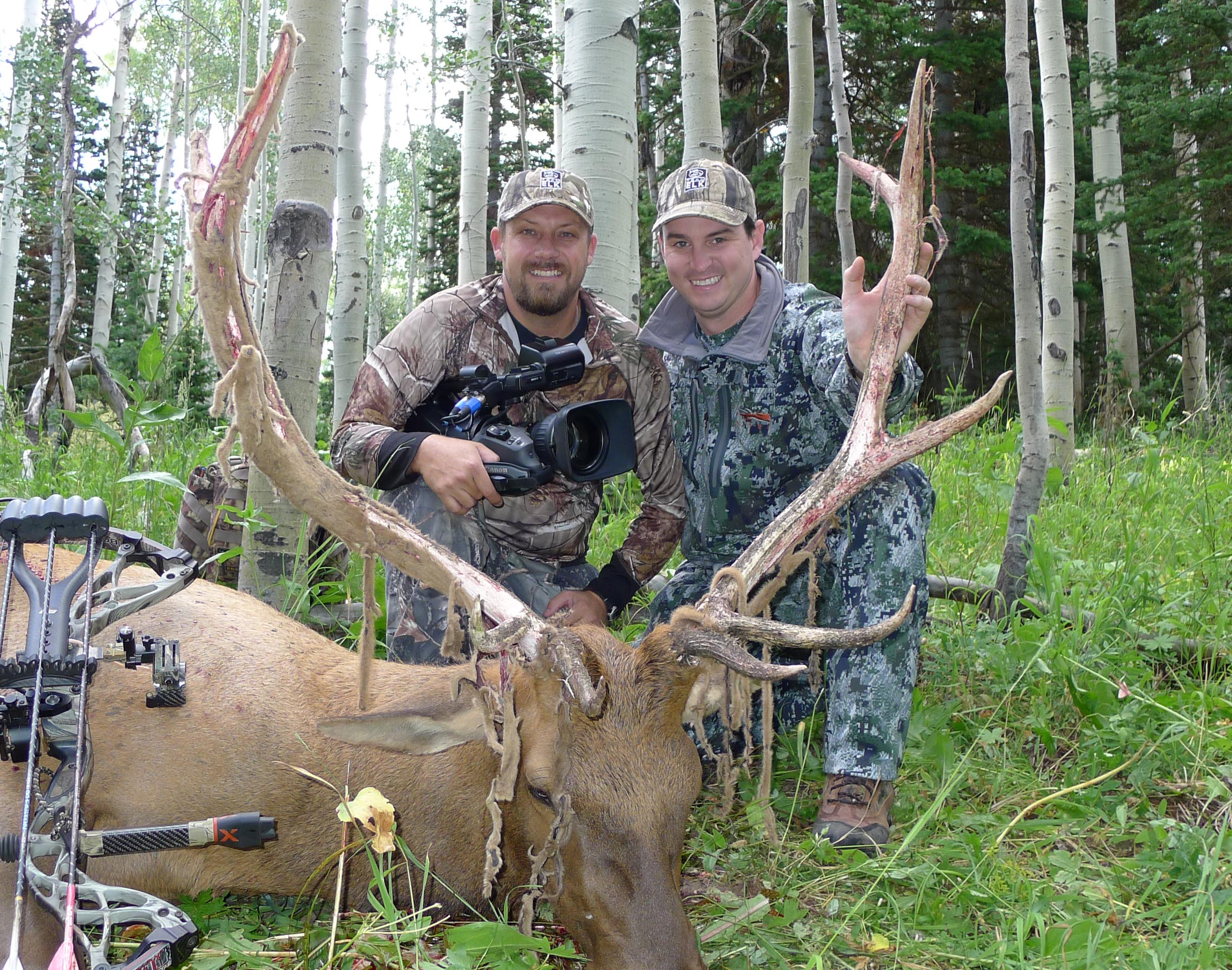 Brandon Bates, left, has experienced the highs and lows of chasing whitetails and elk throughout the country.