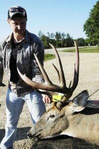 Deer and Deer Hunting TV examines a big buck