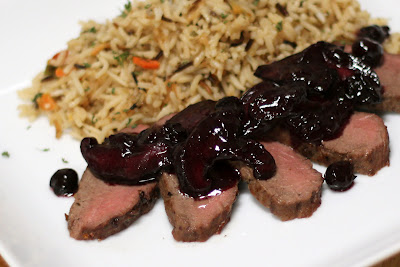 Blueberry Shitake Venison ... mmm, sweet blueberries and the earthiness of mushrooms.