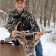 Bob Sampson with his Lucky Buck buck.