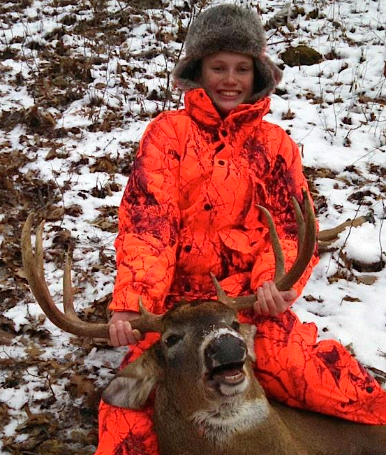 Brad Forester with his awesome Minnesota 14-point buck. Wow! You may need to just stop hunting now, young man! Congrats!