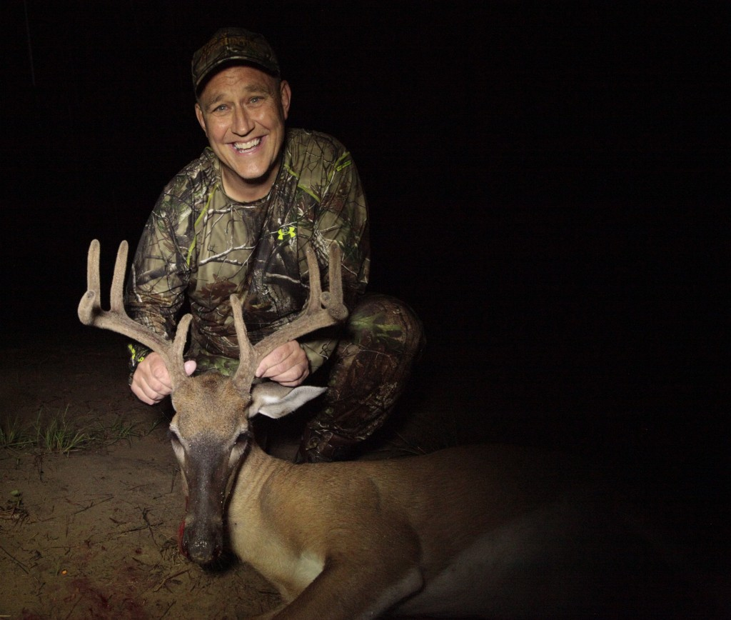 Brad Rucks with a nice South Carolina velvet buck from a 2012 Destination Whitetail hunt!