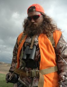 Willie Robertson is comfortable in a duck blind or deer stand.