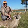 Mark Davis of South Carolina was hunting on his lease in Texas when this wide old buck came within range. Congrats!