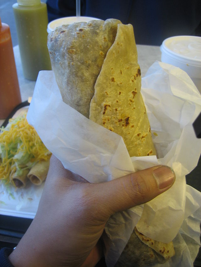 The burrito is an easy way to get breakfast on the run or kick back with friends and a cold brew. (Wikipedia)