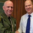 California DFW Enforcement Chief David Bess (left).
