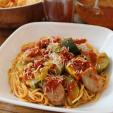 CanCooker Garden Pasta with Venison Sausage