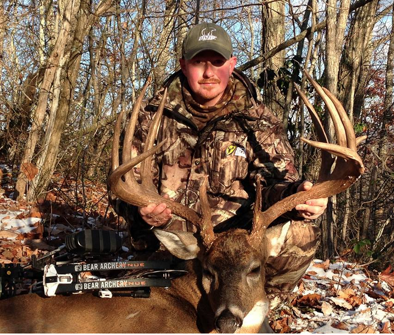 Chad Scyphers of West Virginia hunted this big 12-point for years before finally getting a shot, and his hard work paid off. The buck green scored 196 5/8 with an estimated 10 points of deductions, which if accurate still would put the buck about 10 points better than the state record. Scyphers isn't getting his hopes up yet but it looks like his patience and work paid off with a state record! Congratulations!