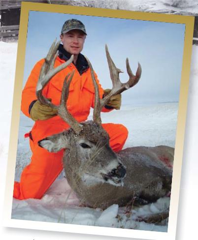Chris Maxwell with his Saskatchewan buck.
