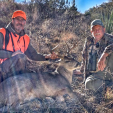 DDH Editor Gordy Krahn (left) with his dandy Carmen Mountain whitetail, shot with a Mossberg rifle while hunting in mid-December.