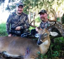 "D&DH TV lead producer Terry Boeder, left, and cohost Daniel Schmidt with a highlight from the 2016 show. The television show will move to Pursuit Channel in 2017 and anchor the two-hour ""Saturday Night Deer Camp"" block of whitetail shows."