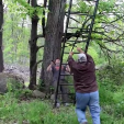 With ladder stands it's best to have a buddy to help you get them put up, especially with some of the 2-man stands that are heavier or taller. Be safe!