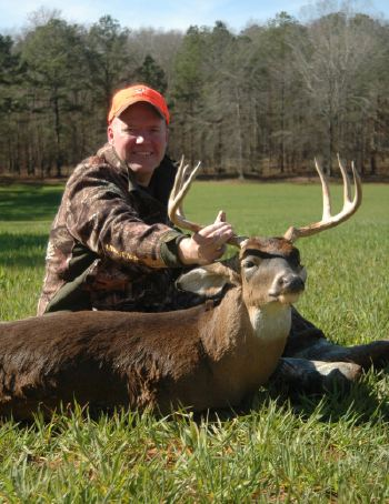 Deer & Deer Hunting Editor Dan Schmidt bagged this wide-racked buck on Monday while hunting in southern Alabama.