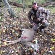 Deer & Deer Hunting Editor-in-Chief Dan Schmidt with his first whitetail taken with a crossbow. (Photo by Tracy Schmidt)