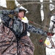 Deer & Deer Hunting Editor-in-Chief Dan Schmidt at full draw in his Heater Body Suit. This valuable tool works well up north in snowy conditions or even in the southeast where a damp January morning can give any hunter the shakes.