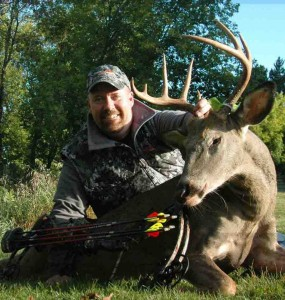 Dan Schmidt is all smiles after taking this hog-bodied 8-pointer in Wisconsin. He was hunting over a food plot of Tall Tine Tubers that had been planted just a month prior to the hunt.