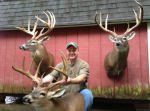 Danny Dillard of Easley with three of his record book South Carolina bucks.