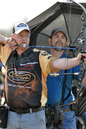 Darrin Christenberry believes in a smooth release for better accuracy.