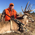 David Blanton with Realtree make a super shot with this CVA muzzleloader on this great Oklahoma buck. Congrats!