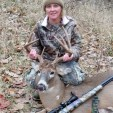Tammy McKnight dropped this Indiana buck with her muzzleloader. Congrats!