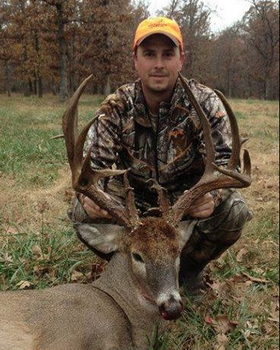 Drew Weir dropped this monstrous 23-point buck in Benton County,  Arkansas. Holy smokes!