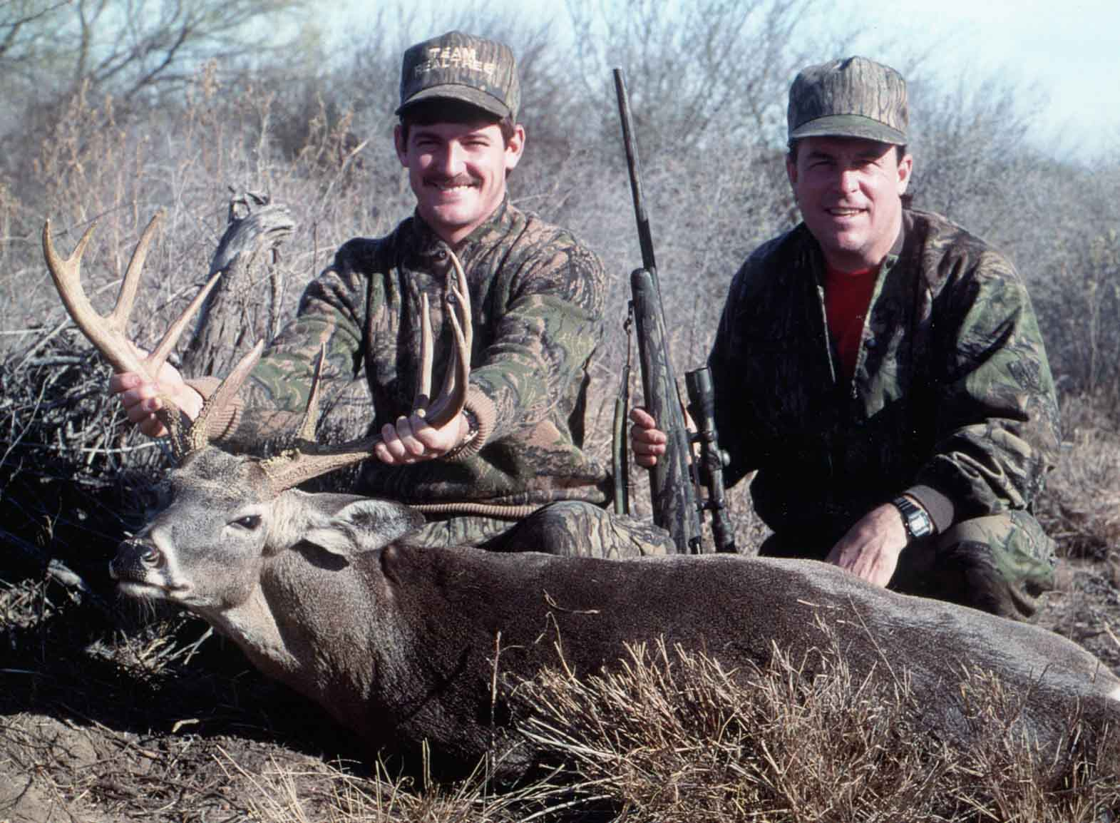 Veteran outdoor writer Duncan Dobie has hunted throughout the country with children and adults, including the late NASCAR driver Davey Allison (left) of Alabama.