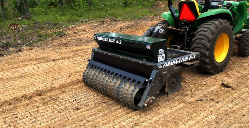 The Firminator's 3-in-1 system lets you turn soil, apply seed and fertilizer, and then cutlipack all in one pass.