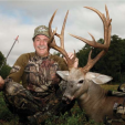"Comedian Jeff Foxworthy with ""Will Smith,"" a super buck he shot with his bow on his property in Georgia in 2013."
