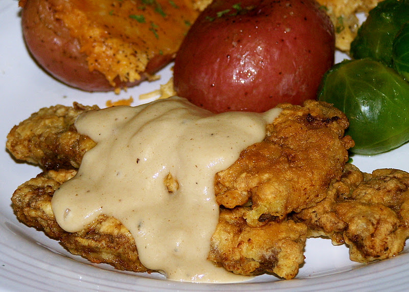 Country fried steak, either venison or beef, is a favorite dish and gets a little love from some milk gravy, too. (Photo: FoodForHunters.blogspot.com)