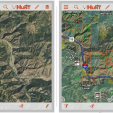 A before-and-after comparison of maps with the OnXMaps technology that provides more information for your traveling and hunting.