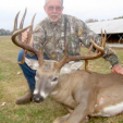 George Simolke of Louisiana with his 187 inch jaw-dropping buck! (Photo: LousianaSportsman.com)