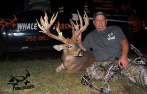This incredible whitetail was killed in Waukesha County, Wisconsin, last week. It sports 27 points and gross-scores 244 inches, making it one of the largest nontypicals ever killed by a bowhunter in Wisconsin. (www.whaletalesarchery.com)