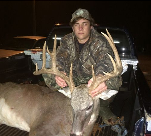 Grant Vick with his 11-pointer from Kemper County, Louisiana, a state that has turned out some whoppers the last few seasons.