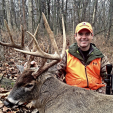 Gregg Ritz of Hunt Masters with a great Thompson/Center muzzleloader buck.